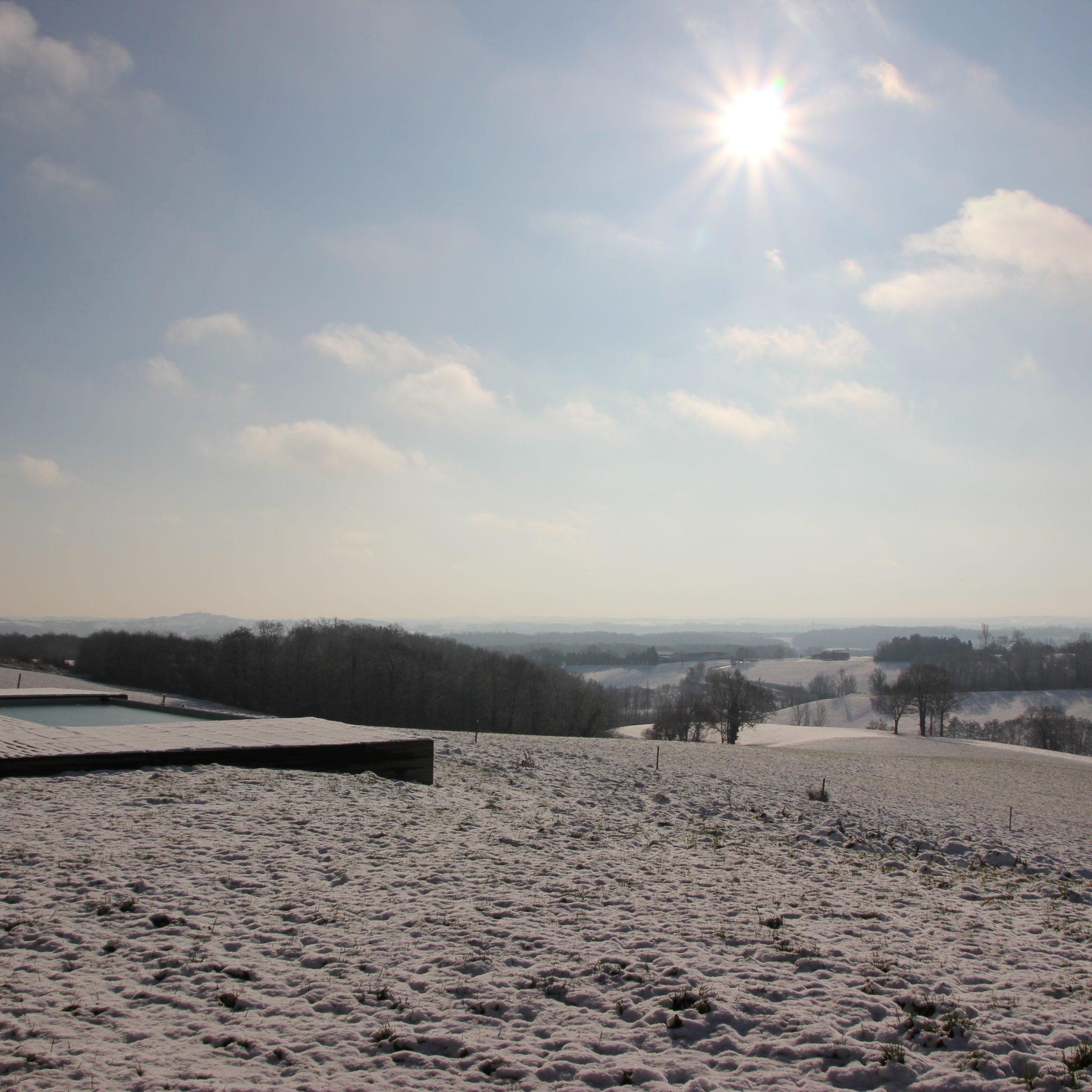 Sneeuw in de Gers
